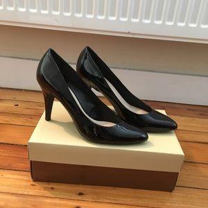 Franco Sarto Vegan Patent Leather Heels